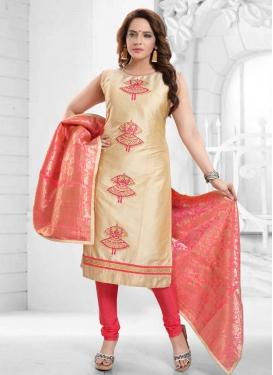 Art Silk Readymade Churidar Salwar Kameez