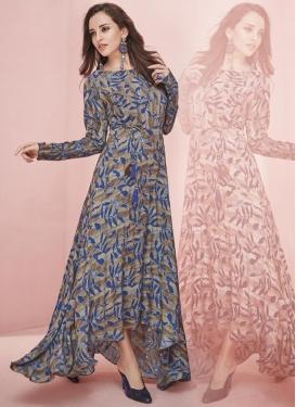 Art Silk Readymade Designer Gown