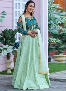 Art Silk Readymade Floor Length Gown