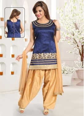 Art Silk Readymade Salwar Kameez