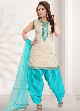 Art Silk Readymade Salwar Kameez For Ceremonial