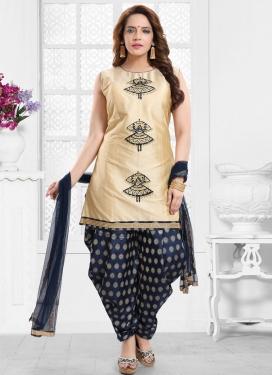 Art Silk Readymade Salwar Suit