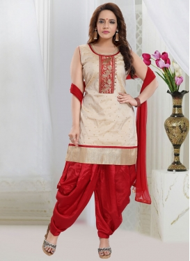 Art Silk Readymade Salwar Suit For Ceremonial