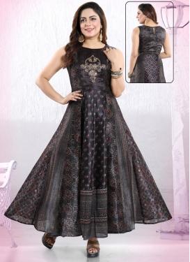 Art Silk Readymade Trendy Gown
