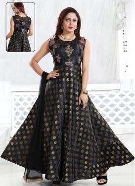 Art Silk Resham Work Readymade Designer Gown