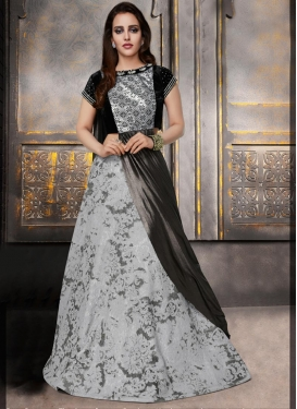 Art Silk Sequins Work A Line Lehenga Choli