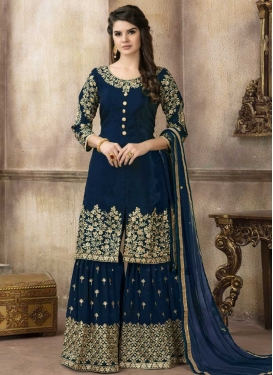 Art Silk Sharara Salwar Kameez