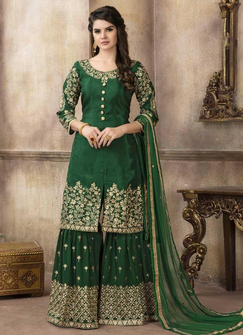 Art Silk Sharara Salwar Suit