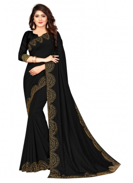 Art Silk Stone Work Designer Contemporary Saree