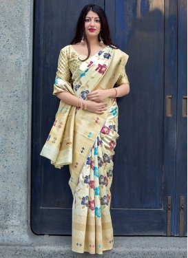 Art Silk Thread Work Classic Saree