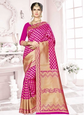 Art Silk Thread Work Designer Contemporary Style Saree