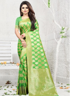 Art Silk Thread Work Designer Traditional Saree