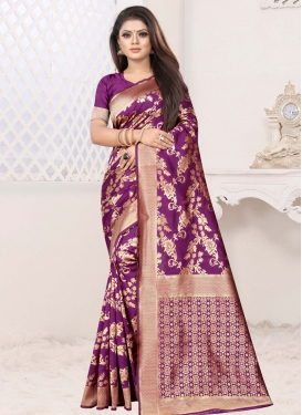 Art Silk Traditional Designer Saree For Casual