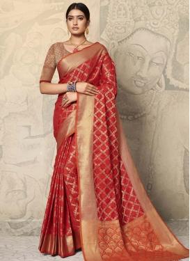 Art Silk Traditional Designer Saree For Casual