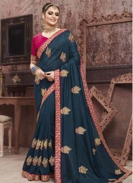 Art Silk Traditional Designer Saree For Festival