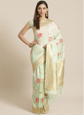 Art Silk Traditional Designer Saree For Festival