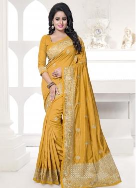 Art Silk Traditional Saree For Ceremonial