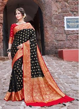 Art Silk Traditional Saree in Black