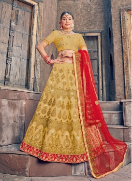 Art Silk Trendy A Line Lehenga Choli For Festival