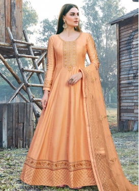Art Silk Trendy Anarkali Salwar Kameez