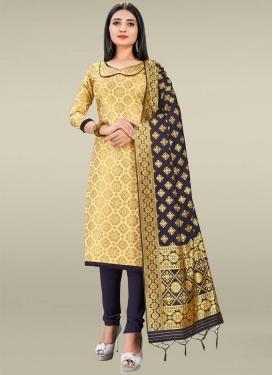 Art Silk Trendy Churidar Salwar Kameez