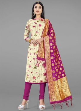 Art Silk Trendy Churidar Salwar Kameez For Casual