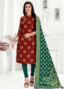 Art Silk Trendy Churidar Salwar Suit For Casual