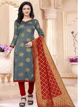 Art Silk Trendy Churidar Suit For Casual