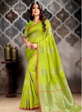 Art Silk Trendy Classic Saree