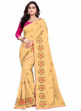 Art Silk Trendy Classic Saree For Festival