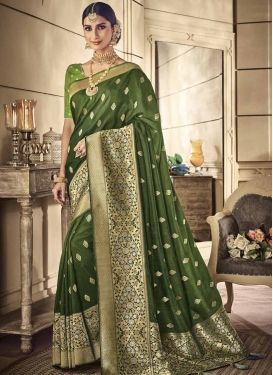 Art Silk Trendy Classic Saree For Party