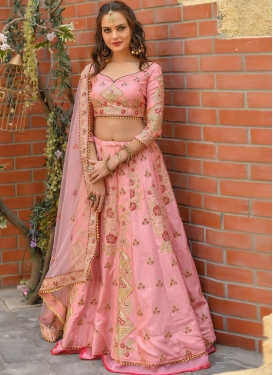Art Silk Trendy Designer Lehenga Choli