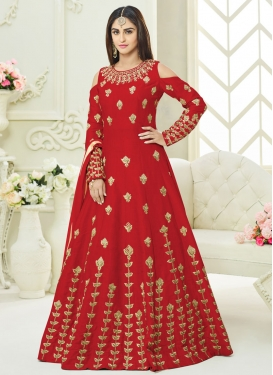 Art Silk Trendy Designer Salwar Suit For Ceremonial