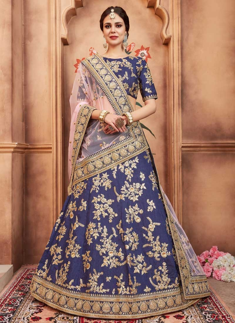 Art Silk Trendy Lehenga For Festival