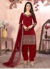 Art Silk Trendy Patiala Salwar Kameez