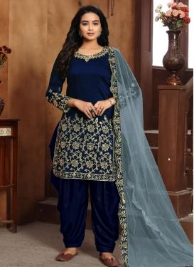 Art Silk Trendy Patiala Salwar Suit
