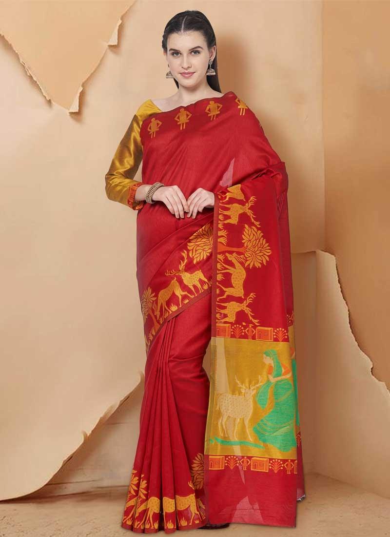 Art Silk Trendy Saree For Casual