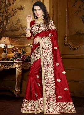 Art Silk Trendy Saree For Ceremonial