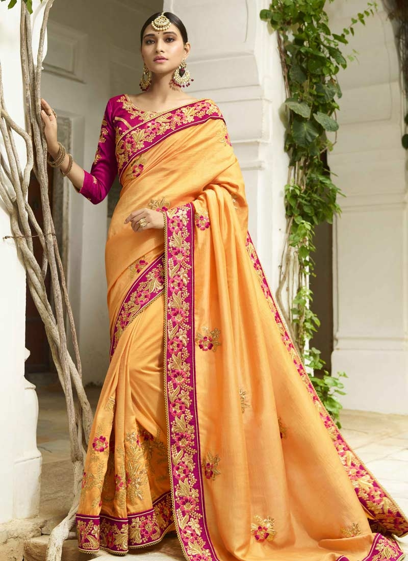 Art Silk Trendy Saree For Festival