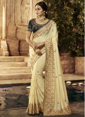 Art Silk Trendy Saree For Party
