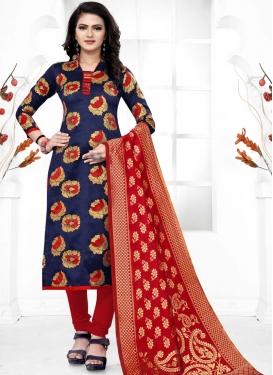 Art Silk Trendy Straight Salwar Kameez For Casual