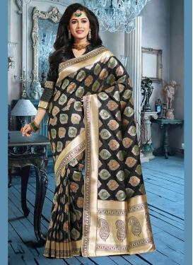 Art Silk Weaving Black Silk Saree