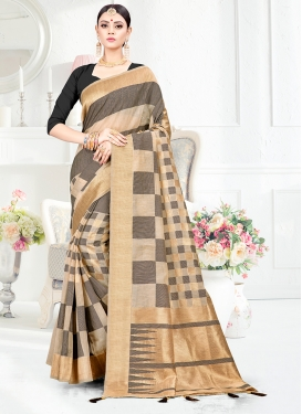 Art Silk Weaving Designer Traditional Saree in Grey