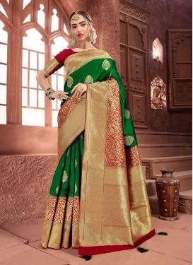 Art Silk Weaving Green Designer Traditional Saree