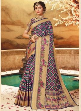 Art Silk Weaving Traditional Designer Saree in Multi Colour