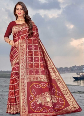 Art Silk Woven Work Designer Traditional Saree