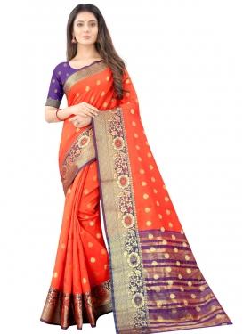 Art Silk Woven Work Designer Traditional Saree