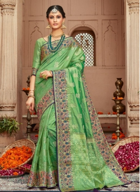 Art Silk Woven Work Trendy Classic Saree