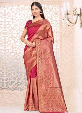 Art Silk Woven Work Trendy Classic Saree