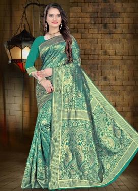 Art Silk Woven Work Trendy Designer Saree
